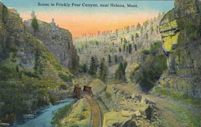 Postcard view of Little Prickly Pear Canyon