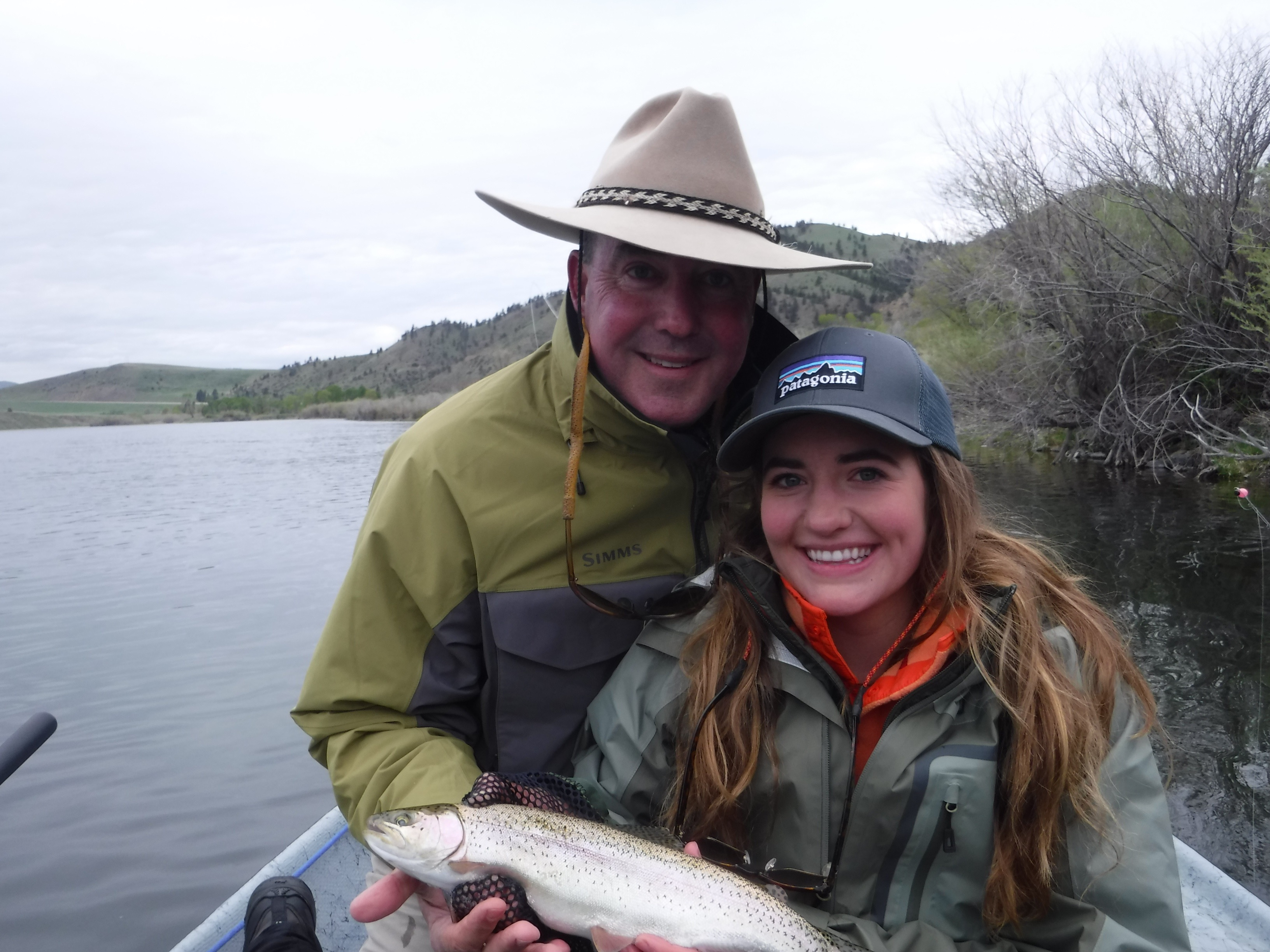 John and daughter Ellie were all smiles for a couple of wet days on the MO'.
