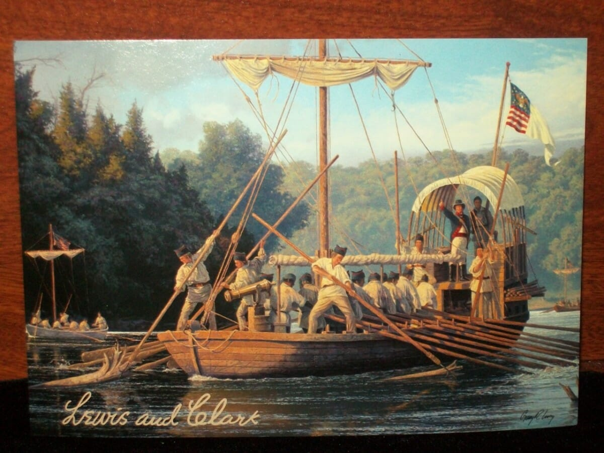 lewis and clark depart wolf creek angler one year after the united states doubled its territory the louisiana purchase the lewis and clark expedition leaves st louis missouri