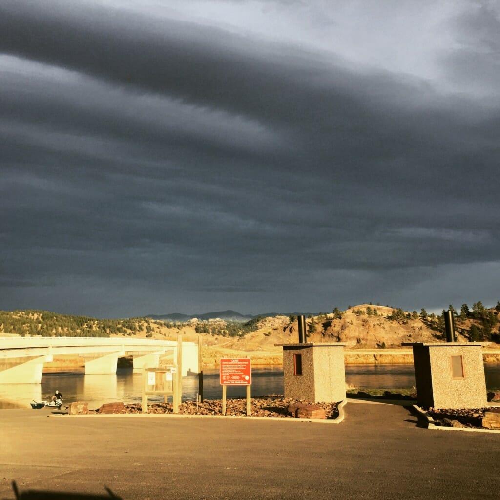 Moody Missouri Sky - Craig Montana. photo by Wolf Creek Angler